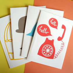 4 pack of multi design cards