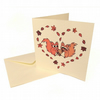 Squirrels in Love Card - blank Valentine's card with cute squirrels in heart
