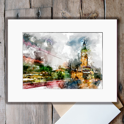 Big Ben, Jim, but not as we know it: Unmounted A3 Fine Art Print