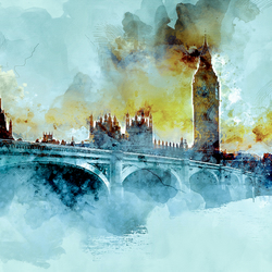 Big Ben, Jim, but not as we know it: A3 Fine Art Print