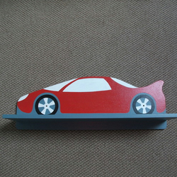Sports Car Shelf - Red, White and Grey