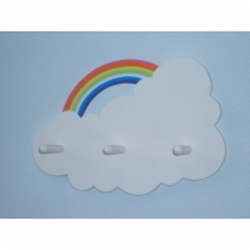 Childs coatpeg - rainbow cloud.