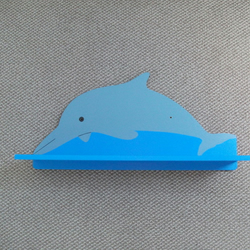Dolphin Shelf - Blue and Grey