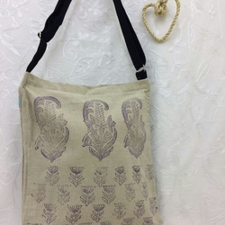 Hand Printed Hemp Shoulder Bag