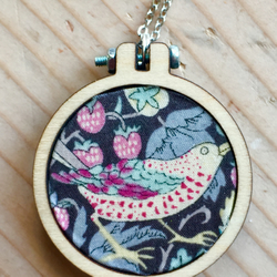 Liberty of London Strawberry Fields Fabric Mini Embroidery Hoop