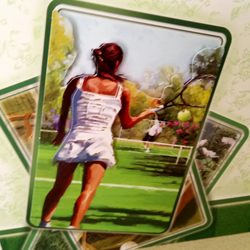Ladies tennis card
