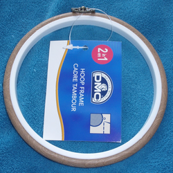"DMC Round Plastic Flexi Hoop Brown 13cm (5"") Use as embroidery hoop and frame"