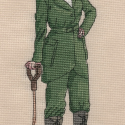 KL142 WW1 Land Girl Cross Stitch Kit designed by Vanessa Wells