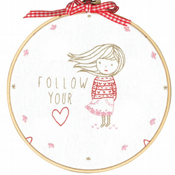 DMC TMREMB2 Embroidery Kit - Follow Your Heart designed by Tamar Nahir-Yanai