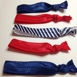 pretty darling french bretton style handmade elastic hair ties