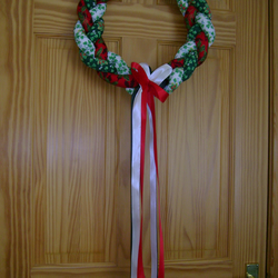 Christmas braided wreath handmade
