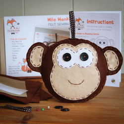 Milo the Monkey Felt Sewing Kit