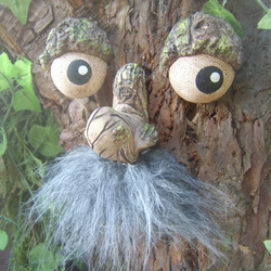 Bearded Tree Face, garden ornaments, sculptures, statues, gift ideas, decoration