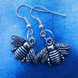 Bee Charm Dangly Earrings