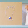 New Baby Card. Hand Sewn Card. Congratulations Card. Baby Shower Card. Baby Boy.
