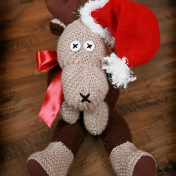 Christmas hand knitted Reindeer