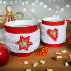 Set of two Christmas mugs