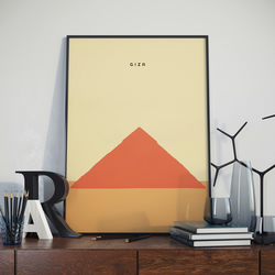 A3 Great Pyramid of Giza, Print. Poster. Wonder of the World Poster.