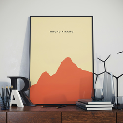 A3 Machu Pichu, Print. Poster. Wonder of the World Poster.