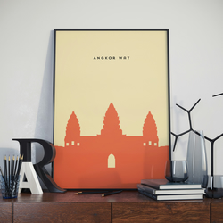 A3 Angkor Wat, Print. Poster. Wonder of the World Poster.