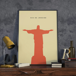 A3 Rio Christ the Redeemer, Print. Poster.