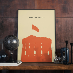 A3 Windsor Castle, Print. Poster.