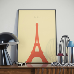 A3 Paris Eiffel Tower, Print. Poster.