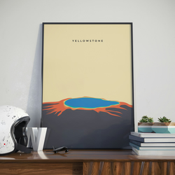 A3 Yellowstone, Print. Poster.