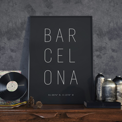 A3 Barcelona, Print. Poster.