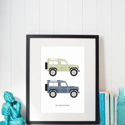 Land Rover Defender illustrated A4 print