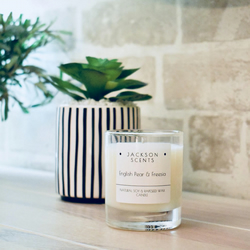 English Pear & Freesia natural soy wax candle