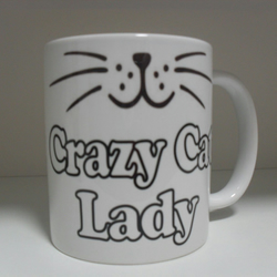 Crazy cat lady 11oz novelty coffee mug