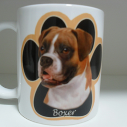 Boxer Dog Paw Print 11oz novelty coffee mug