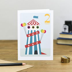 Helter Skelter Circus Children's Cute Colourful Birthday Card 1st 2nd 3rd 4th