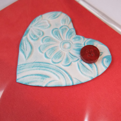 Heart Card in Red and Blue