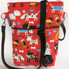 Dog walking bags, crossbody bag, shoulder bags red dogs