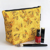 Makeup bag, honey bees