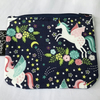 Cotton Coin purse, blue unicorns