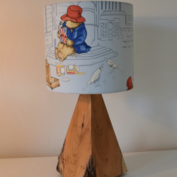 Rustic Wooden Lamp with 20cm Bear Shade