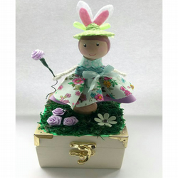 Easter Trinket Box with chocolate eggs