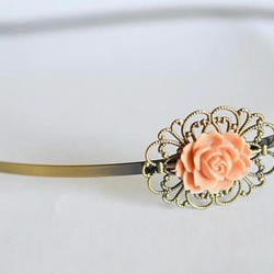 Antique Bronze Filigree Head Band Flower Wedding Bridal wedding Bohemian