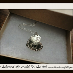 Now at Sale price 25.00 GBP She believed she could.So she did Necklace