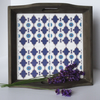 Rustic Wooden North African Inspired Tile Tray with Handles