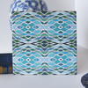 Aqua Colour Net Pattern Ceramic Tile Trivet with Cork Backing