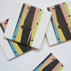 4 x Bold Geometric Pattern Ceramic Tile Coasters with Cork Backing