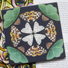 British Moths at Night Design Ceramic Tile Trivet with Cork Backing
