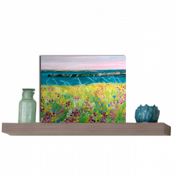 Floral landscape Greeting Card  - colourful Blank card - for all occasions