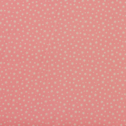 Fabric Freedom - Cotton Poplin - Stars - Pink - Fat Quarter