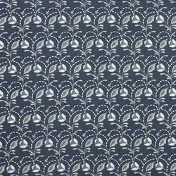 Fabric Freedom - Arts & Crafts - Flower & Leaf Grey - Fat Quarter