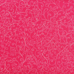 Windham Fabrics - The Cats Meow - Cerise Swirl - Fat Quarter